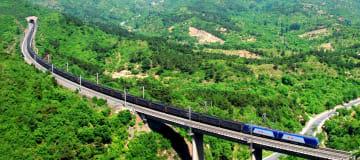 「大秦鉄道」開通30周年迎える 石炭輸送に貢献