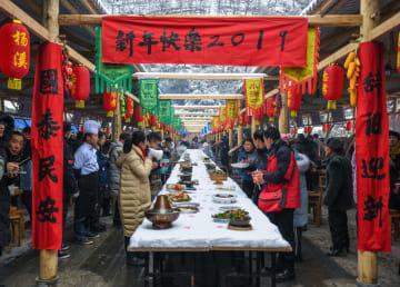 たくさんの農村グルメで年越し 浙江省杭州市