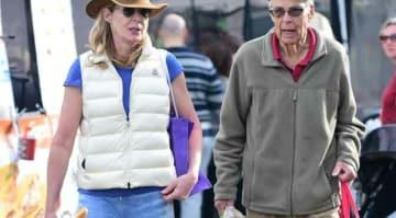 Allison Janney Shops At L.A. Farmers Market With Father Jervis Spencer Janney, Jr.