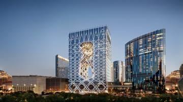 メルコ・リゾーツ&エンターテイメント社の旗艦カジノIR施設「シティ・オブ・ドリームズ マカオ」の外観イメージ(写真:Melco Resorts & Entertainment Limited)
