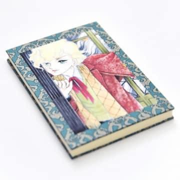 竹宮惠子「風と木の詩」をデザインした御朱印帳の表紙(上)と裏表紙