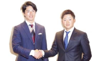 選手会長2年目の石川遼と新任副会長の今平周吾(撮影:ALBA)