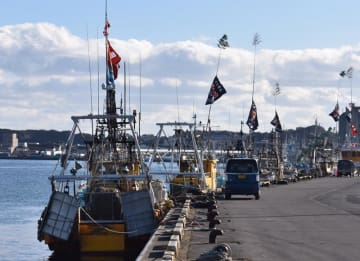 水揚げ量8年連続日本一に輝いた銚子漁港=4日、銚子市