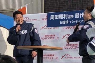 トークショーに参加した西武・熊代聖人(左)と岡田雅利【写真:岩国誠】