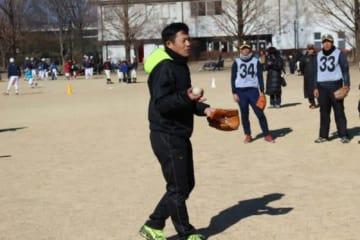 「ぐんま野球フェスタ2019」で指導者向けの野球教室を行った仁志敏久氏【写真:広尾晃】