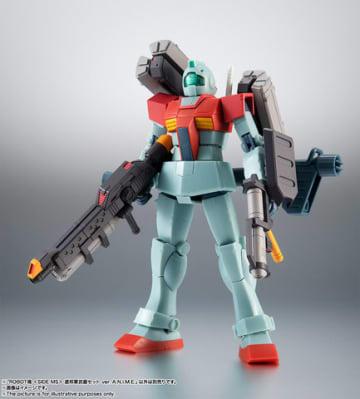 アニメ「ガンダム」シリーズのアクションフィギュア用の武器セット「ROBOT魂<SIDE MS> 連邦軍武器セット ver. A.N.I.M.E.」のイメージ(C)創通・サンライズ