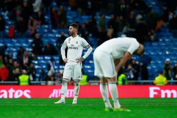 首位バルセロナとの勝ち点差が10にまで開き、リーグ優勝は絶望的に photo/Getty Images
