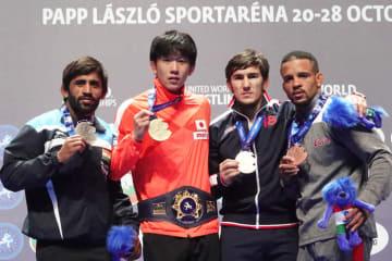 乙黒拓斗(山梨学院大)ら男子フリースタイル65kg級の世界トップ4。9月の世界選手権まで、どんな闘いが演じられるか