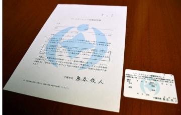 パートナーシップ宣誓証明書と証明カード