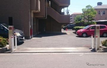 チェーンゲート式駐車場