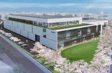 オムロンヘルスケアが松阪事業所に建設する新工場の完成イメージ