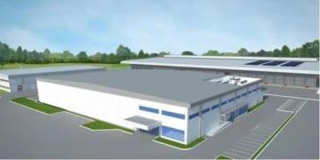 カネカのインドネシア新工場の完成予想図(同社提供)