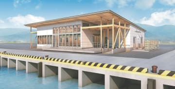 離島航路ターミナルの外観イメージ