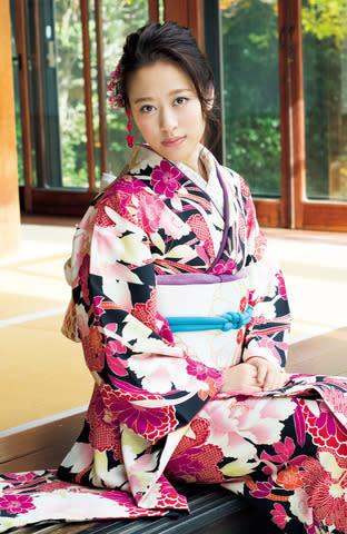 「UTB+ Vol.46」で振り袖姿を披露した「モーニング娘。'19」の小田さくらさん