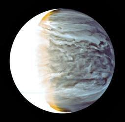 あかつきの赤外線カメラが撮影した金星(JAXA提供)