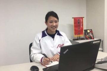京都フローラ球団公式ツイッターの情報配信者「Flotter」に就任した岩田きくさん【写真提供:日本女子プロ野球リーグ】
