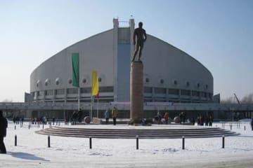 今年初のUWWランキング決定大会が行われるクラスノヤルスクのアリーナ