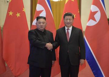 習近平氏、金正恩朝鮮労働党委員長と会談