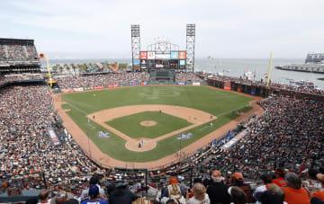 米大リーグ、ジャイアンツの本拠地、AT&Tパーク=サンフランシスコ(共同)
