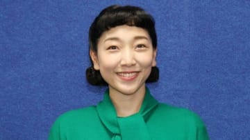 NHKの連続テレビ小説「まんぷく」の会見に登場した安藤サクラさん