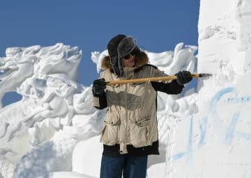 第24回中国·ハルビン国際雪像彫刻コンテスト開幕 黒竜江省ハルビン市