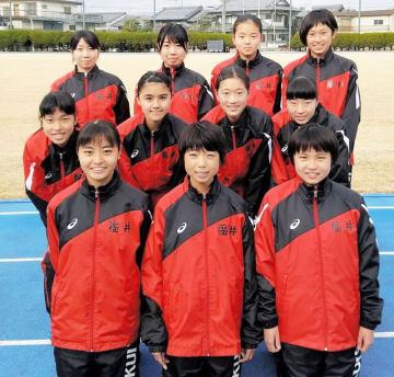 30位台を目標とする福井県女子選抜=京都府のNTT淀総合運動場