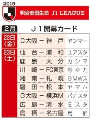 J1開幕カード