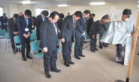 海難防止と大漁を祈願する参列者たち