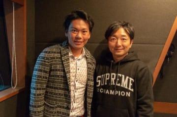 プロロードレーサー・新城幸也選手(バーレーン・メリダ所属)と野島(右)