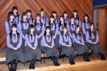 連続ドラマ「ザンビ」の会見に出席した「乃木坂46」メンバー19人