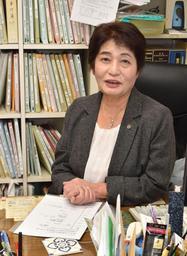 100歳までの人生プランを作った山下智子さん。「不安もあるけど、最期まで前向きに生きたい」=加古川市平岡町新在家
