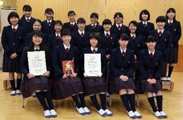 【中学校合唱部門で最優秀賞を受賞した東陽の合唱部】