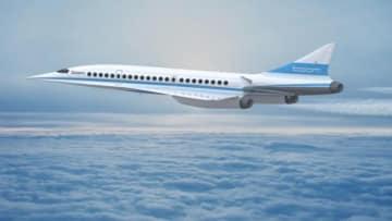 ブーム・テクノロジーによる超音速旅客機のイメージ。(画像: JALの発表資料より)