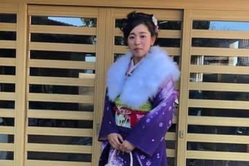 成人式を迎えた愛知ディオーネ・森若菜【写真提供:日本女子プロ野球リーグ】