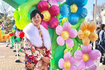 成人式を迎えた京都フローラ・甲斐田陽菜【写真提供:日本女子プロ野球リーグ】