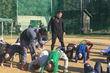野球未経験児童を対象とした野球体験会を開催したDeNA・筒香嘉智【写真:佐藤直子】