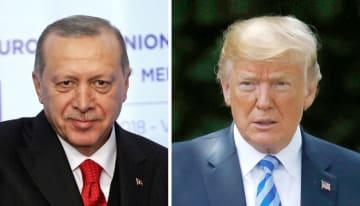 トルコのエルドアン大統領、トランプ米大統領(いずれもロイター=共同)