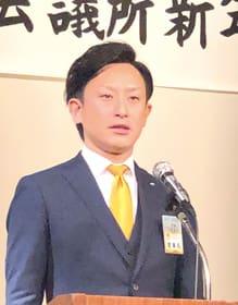 記念の年への決意を示す小野理事長