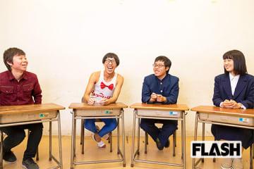写真左から赤堀さん、ひょっこりはん、荻野さん、玉井さん