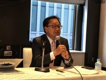 日本プロゴルフ協会の定例理事会に出席した倉本昌弘会長(撮影:ALBA)