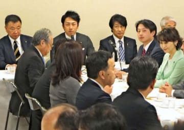 厚生労働省による毎月勤労統計の不適切調査を巡って開催された自民党の厚生労働部会=15日午後、東京・永田町の党本部