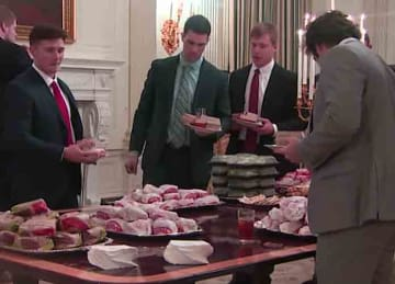 National football champions Clemson dine at White House