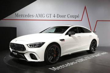 メルセデスAMG GT 4ドア クーペ [東京オートサロン2019出展車両(参考出品車)]※展示車は欧州仕様のため日本導入モデルとは細部で異なる場合がある