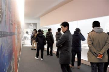 大河ドラマ「西郷どん」の放映後、ツアー客などでにぎわいを増した田原坂西南戦争資料館=2018年2月、熊本市北区