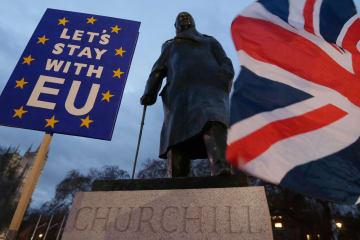 EU離脱案、英下院が230票差で否決