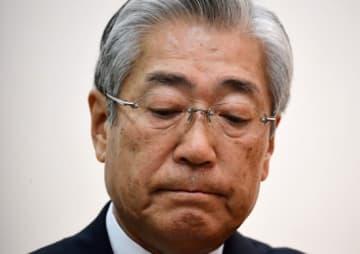 JOC竹田会長 五輪招致の贈収賄疑惑で会見(写真:AFP/アフロ)
