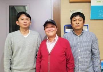 左から、有吉弘行、上島竜兵さん、安田和博