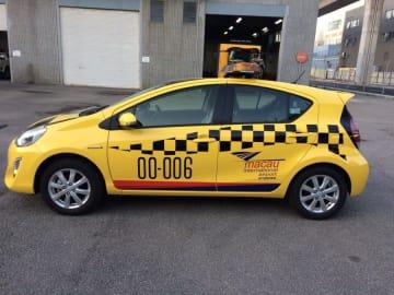 マカオ国際空港が導入したハイブリッドカーの例(写真:CAM)