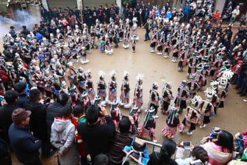 ミャオ寨で「鼓蔵節」にぎやかに開催、貴州省榕江県