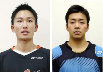 桃田賢斗(左)西本拳太